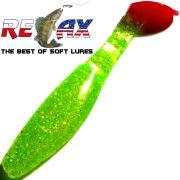 Relax Kopyto Classic 4L 4 Gummifisch 11cm Chartreuse Glitter RT