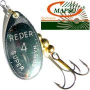 Mapso Spinner Reder Größe 4 Gewicht 9,5g Farbe Silber Spinnköder 1 Stück