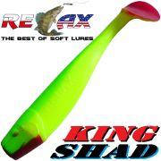 Relax King Shad Gummifisch ca. 11cm 4 Farbe Fluogelb Fluogrün RT Zanderköder