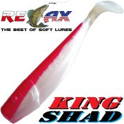Relax King Shad Gummifisch ca. 11cm 4 Farbe Perl Rot Zanderköder