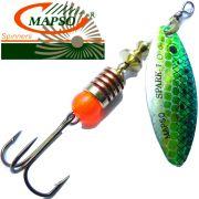 Mapso Spinner Spark Größe 1 Gewicht 4,5g Farbe Fisch Blau Spinnköder 1 Stück