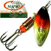 Mapso Spinner Spark Größe 2 Gewicht 7g Farbe Schwarz Rot Gold Spinnköder 1 Stück