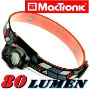 MacTronic HLS K4 Diffuse Kopflampe 80 Lumen mit 1 Watt Rebel Luxeon LED und rotem LED