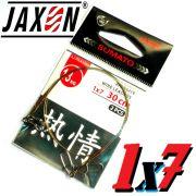 Jaxon Stahlvorfach Sumato 1X7 Strand Spin Snap + Wirbel Länge 30cm Tragkraft 13,0kg 2 Stück im Set