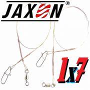 Jaxon Stahlvorfach Sumato 1X7 Strand Spin Snap + Wirbel Länge 30cm Tragkraft 6,0kg 2 Stück im Set
