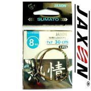 Jaxon Stahlvorfach Sumato 7X7 Strand Spin Snap + Wirbel Länge 30cm Tragkraft 8,0kg 2 Stück im Set