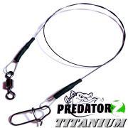 Predatorz Titanium Titanvorfach Spin Snap + Wirbel Länge 30cm Tragkraft 7,0kg 2 Stück im Set