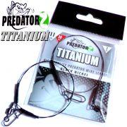 Predator Z Titanium Titanvorfach Spin Snap + Wirbel Länge 30cm Tragkraft 11,0kg 2 Stück im Set