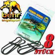 Behr Spezialkarabiner Gr.6 Spin Snap Tragkraft 29 kg Farbe Black Nickel 8 Stück