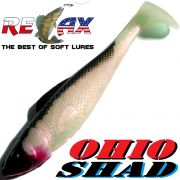 Relax Ohio Shad 2,5 Gummifisch ca. 7cm Farbe Rotperl Schwarz 1 Stück Barsch&Zanderköder