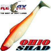 Relax Ohio Shad 4 Gummifisch ca. 10,5cm Farbe Reinweiss Orange 1 Stück Barsch&Zanderköder