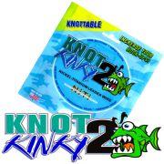 Aquateko Knot 2 Kinky Singel Strand Titanium Wire Leader Titaniumvorfach 25lbs 11kg 4,6m für Hechtvorfächer