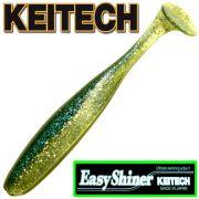 Keitech Easy Shiner 5 12,5cm Gummifisch mit Aroma Farbe Hasu Silver Shiner 5 Stück im Set Zanderköder