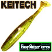 Keitech Easy Shiner 5 12,5cm Gummifisch mit Aroma Farbe Green Pumpkin Chatreuse 5 Stück im Set