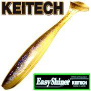 Keitech Easy Shiner 5 12,5cm Gummifisch mit Aroma Farbe Electric Shad 5 Stück im Set Zanderköder