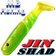 MB-Fishing Jin Shad Gummifisch11cm Farbe Greenline Softbait Barsch & Zanderköder