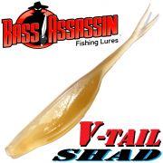 Bass Assassin Shad 4 V-Tailshad ca. 10cm Farbe Clear Shad 8 Stück im Set Barsch & Zanderköder