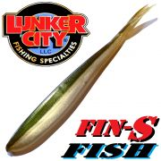 Lunker City Fin-S-Fish Gummifisch 5 -12,5cm Farbe Arkansas Shiner No Action Shad Barsch & Zanderköder