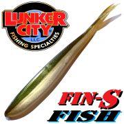 Lunker City Fin-S-Fish Gummifisch 5 -12,5cm Farbe Arkansas Shiner No Action Shad Barsch & Zanderköder