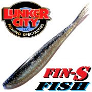 Lunker City Fin-S-Fish Gummifisch 5 -12,5cm Farbe Black Ice No Action Shad Barsch & Zanderköder