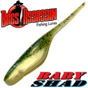 Bass Assassin Baby Shad 3 DS-Köder Softjerk ca. 7,5cm Farbe Baby Bass 10 Stück im Set