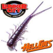 Lunker City HellGies  Hellgie Gummiköder 7 ca. 17,5cm Purple Majesty DS - Köder Kreatur Larve 10 Stück im Set