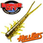 Lunker City HellGies  Hellgie Gummiköder 5 ca. 12,5cm Watermelon Seed DS - Köder Kreatur Larve 15 Stück im Set