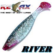 Relax Kopyto River Gummifisch 16cm Farbe Kristall Glitter Schwarz RT
