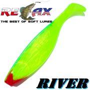 Relax Kopyto River Gummifisch 16cm Farbe Perl Fluogelb Grün