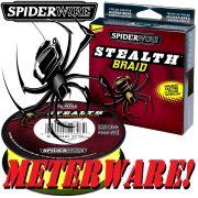 Spiderwire Stealth Braid Yellow geflochtene Angelschnur 0,14mm 10,2kg with Dyneema Fibre 100m Meterware!