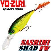 YO-ZURI Sashimi Shad FW (SP) Wobbler 70mm 9,5g Suspending Farbe CMFT Change Color Barsch&Zander