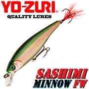YO-ZURI Sashimi Minnow FW (F) Wobbler 70mm 5,5g Floating Farbe CMNM Change Color Barsch&Zander
