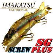 Imakatsu SG Screw Plus Wobbler ca. 150mm 38g Dead Slow Sinking Farbe Kasumi Wakasagi Hecht & Zanderköder