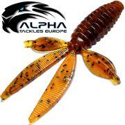 Alpha Tackles A-Factor Flat Crawdad 3,75 Pumpkin 1 Stück Drop Shot & Finesse