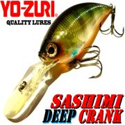 YO-ZURI Sashimi Deep Crank (F) Wobbler 70mm 18g Floating Farbe CSBG Change Color Barsch, Zander & Hecht