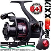 Spro KIXX Black 7500 Stationärrolle 343g 6+1 Lager 200m-0,35mm 5,5:1 S-Curve Getriebe High Speed Rolle