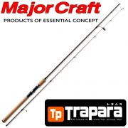 Major Craft Trapara NATIVE TPS-602LX Light Spinnrute 60 ca. 1,83m WFG 2-10g 2 teilig Fast Action Barsch&Forellenrute