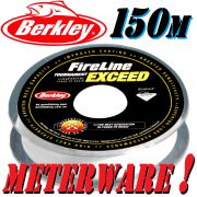 Berkley Fireline EXCEED Crystal geflochtene Angelschnur 0,10mm 5,9kg Crystal 150m Meterware!