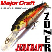 Major Craft Lures Zoner Jerkbait 50 Farbe N-05 Rainbow 50mm 2g Suspending Tauchtiefe 1-1,5m Forellen&Barschköder