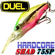 DUEL Hardcore Shad 75SP Wobbler Farbe HCLP 75mm 10g Floating Tauchtiefe 2,5-3,5m Barsch&Zanderköder