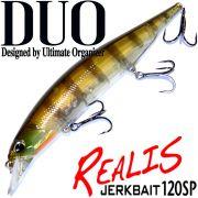 DUO Realis Jerkbait 120SP Wobbler 120mm 18g Suspending Farbe Ghost Gill Twitchbait Barsch&Zanderköder