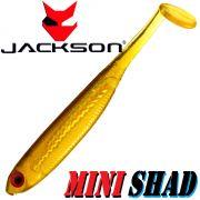 Jackson Mini Shad Gummifisch 2,8 ca. 7cm Farbe Gold Ayu 1 Stück Forellen & Barschköder