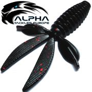 Alpha Tackles A-Factor Flat Crawdad 3,75 Black Red Glitter 1 Stück Drop Shot & Finesse
