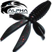 Alpha Tackles A-Factor Flat Crawdad 3,75 Black Red Glitter 1 Stück Drop Shot & Finesse