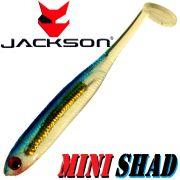 Jackson Mini Shad Gummifisch 2,0 ca. 5cm Farbe Blue Ice 1 Stück Forellen & Barschköder