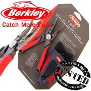 Berkley Tec Tool 6 Bent Nose Power Pliers abgewinkelte Spitzzange mit Tungsten Cutter und Holster