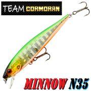Team Cormoran Minnow N35 Wobbler 85mm 7g Floating 1 Stück Farbe Half Ghost