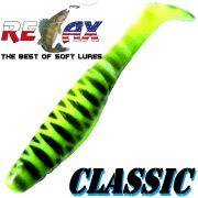 Relax Kopyto Classic 4L 4 Gummifisch 11cm Farbe Fluogelb Schwarz S