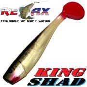 Relax King Shad Gummifisch ca. 11cm 4 Farbe Silber Perl Schwarz RT Zanderköder