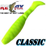 Relax Kopyto Classic 4L 4 Gummifisch 11cm Farbe Fluogelb Fluogrün S